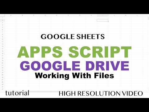 Google Apps Script - Google Drive Tutorial, Files, Folders, Copy Files, DriveApp, Iterator - Part 15