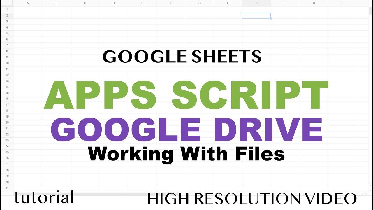 Google apps script google drive tutorial files folders copy google apps script google drive tutorial files folders copy files driveapp iterator part 15 baditri Image collections