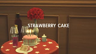 [심즈4] 딸기 케이크 베이킹? l Sims4 Stra…