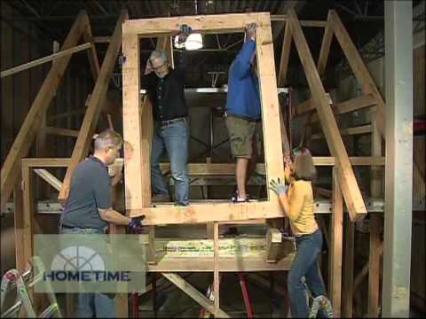 Framing Timber Shed Front Dormer Inside Youtube