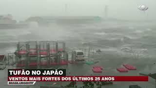 Tufão atinge costa do Japão