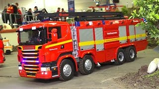 RC FIRE Model TRUCKs Engine in SCALE Feuerwehr,  RC Scania RC Mercedes Benz RC MAN
