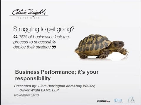 Business Performance; it's your responsibility