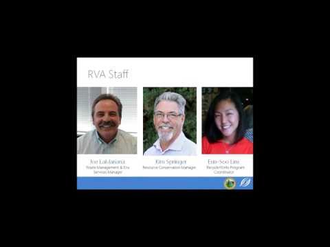 San Mateo County RecycleWorks Webinar  1-10-2016