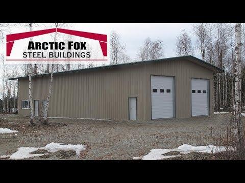 Steel Building In Alaska - Arctic Fox Steel Building In Alaska