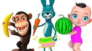 Funny Monkey and his friends searching fruits