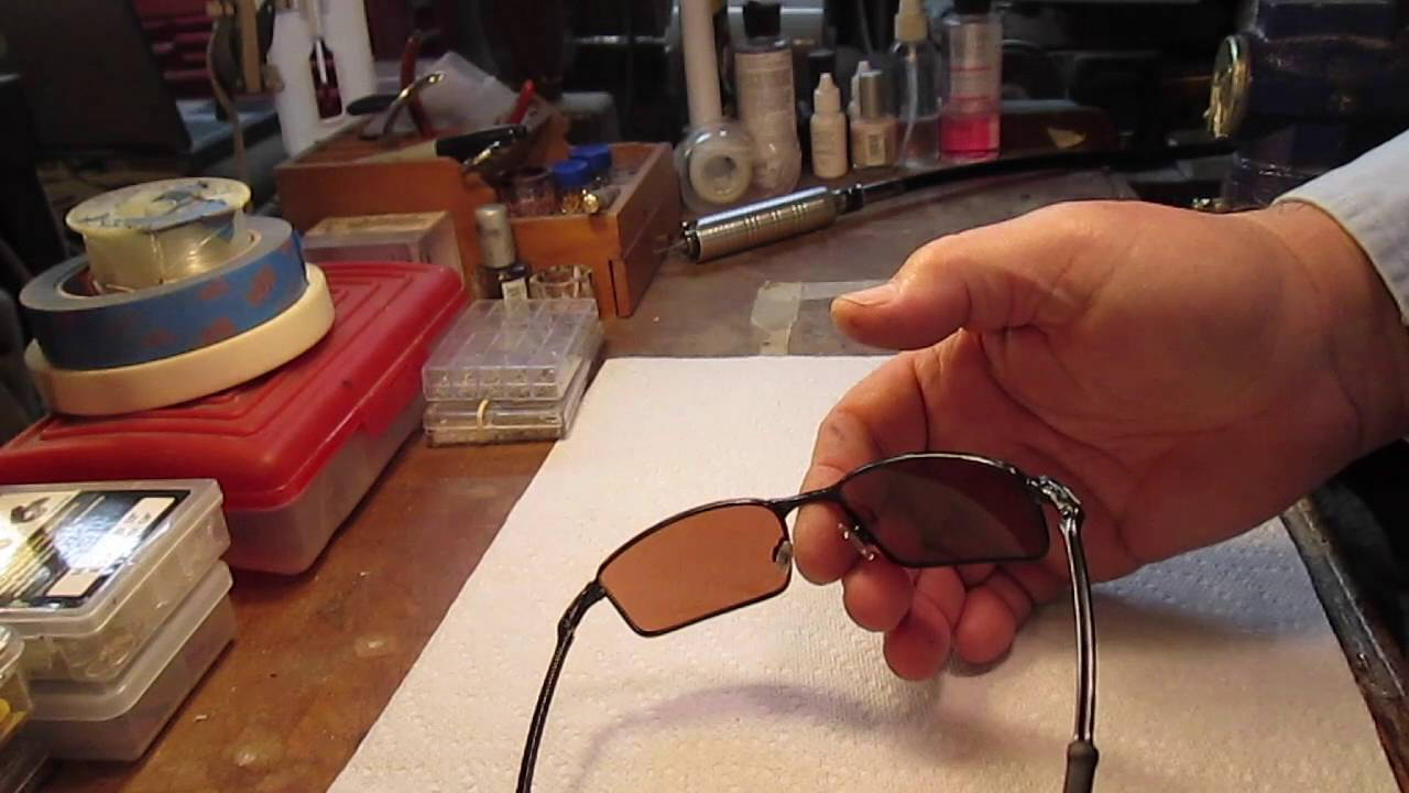 Oakley Sunglasses Repair  oakley spring hinge repair and upgrade