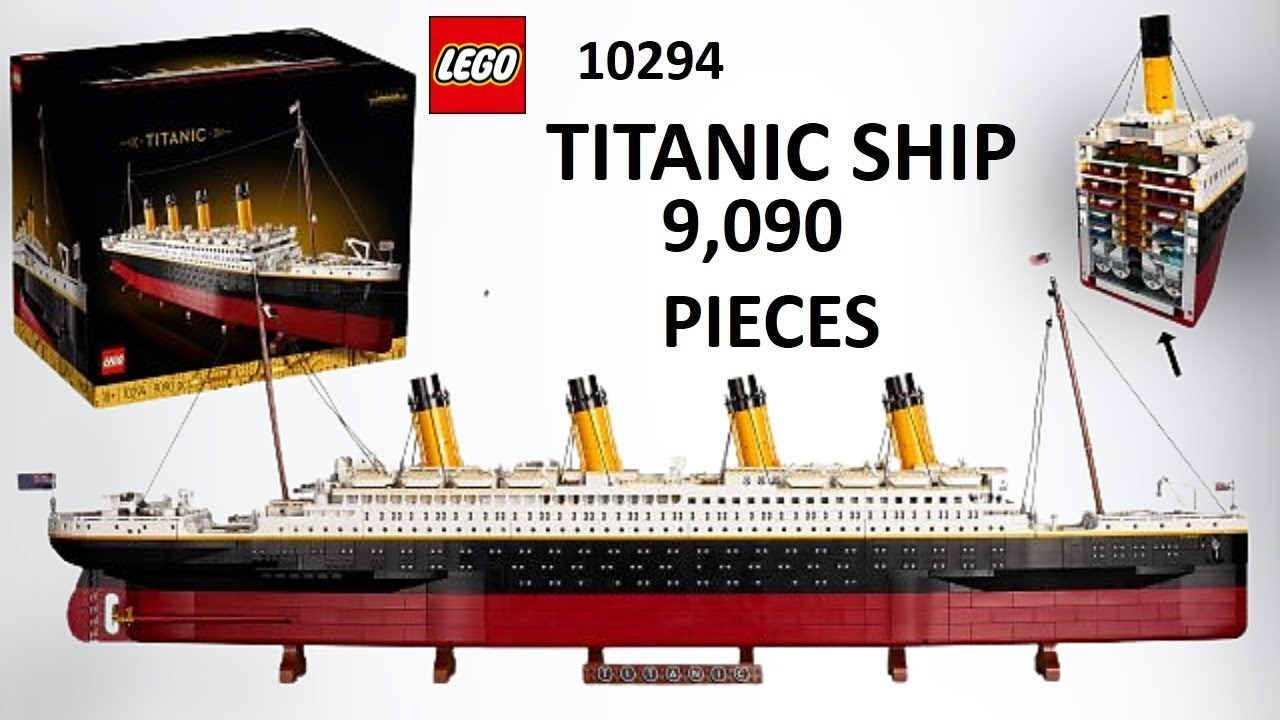 LEGO to release a 9090-piece scale model of the Titanic -- its ...
