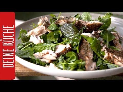 lachs-von-der-zedernplanke-auf-frischem-pflücksalat-#grillrezepte- -rewe-deine-küche