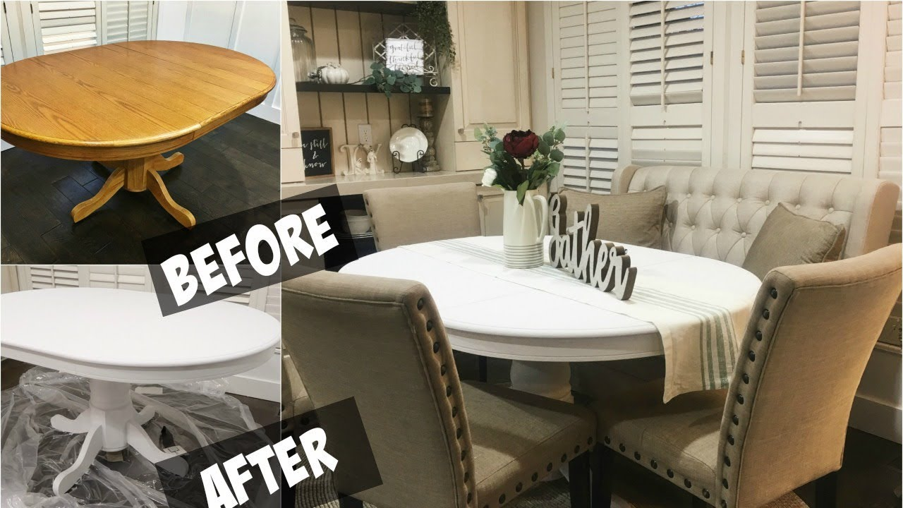 Diy Chalk Paint Dining Room Table You