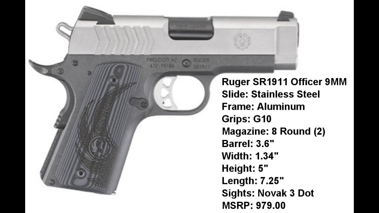 New Ruger SR1911 Lightweight Officers 9mm