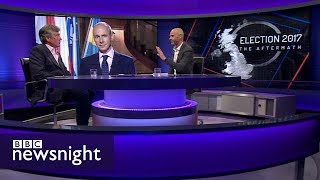 Is a hard Brexit still on the cards? Daniel Hannan and Neil Carmichael - BBC Newsnight