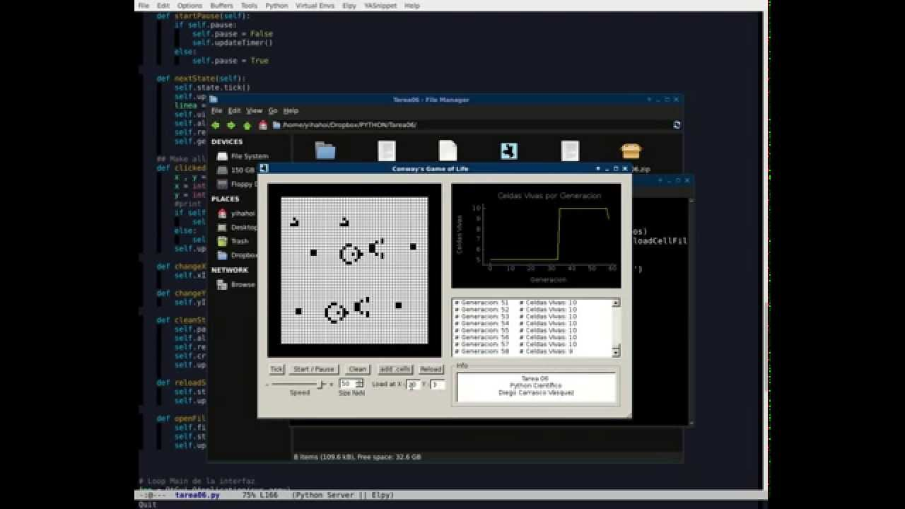 Conway's Game of Life (Python, PyQt, PyQtGraph) by YiHaHoi