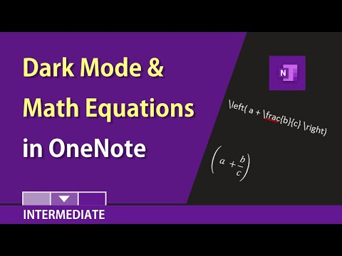 OneNote for Windows 10: Dark mode and math equations by Chris Menard