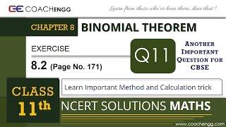BINOMIAL THEOREM 8.2 Q11. Coefficient of x^n in (1+x)^2n is twice coefficient of x^n in (1+x)^(2n−1)