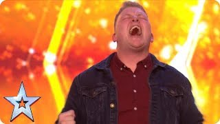 Download Gruffydd wows with OUT OF THIS WORLD vocals and bags a GOLDEN BUZZER! | Auditions | BGT 2018 Mp3 and Videos