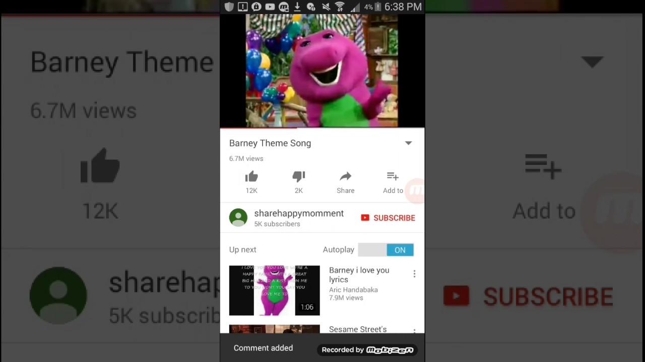 barney theme song is the ice cream song creepy youtube
