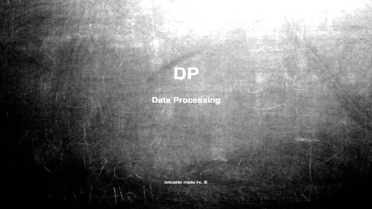 what does dp mean - youtube