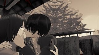 "MMD SNK ""Epic Kiss, Epic Slap"" Levi and Mikasa Attack On Titan funny meme animation"