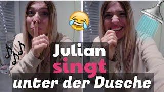 JULIAN SINGT unter der Dusche ( heimlich gefilmt ) 😏😂 | BibisBeautyPalace