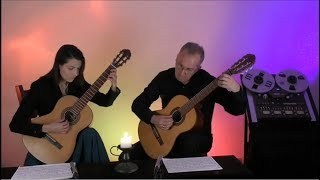 J.S. Bach  AIR  BWV1068  classical guitar version   www.luteduo.com