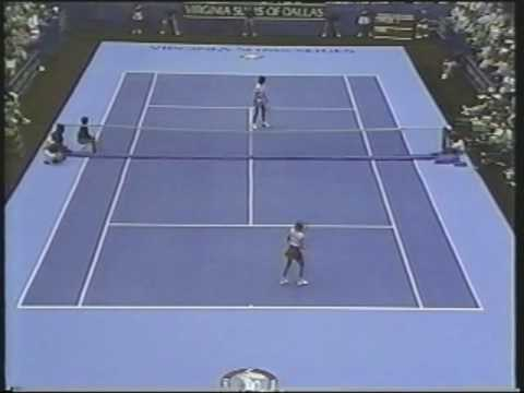 Chris Evert d. Pam Shriver - 1987 Dallas final with forehand winners
