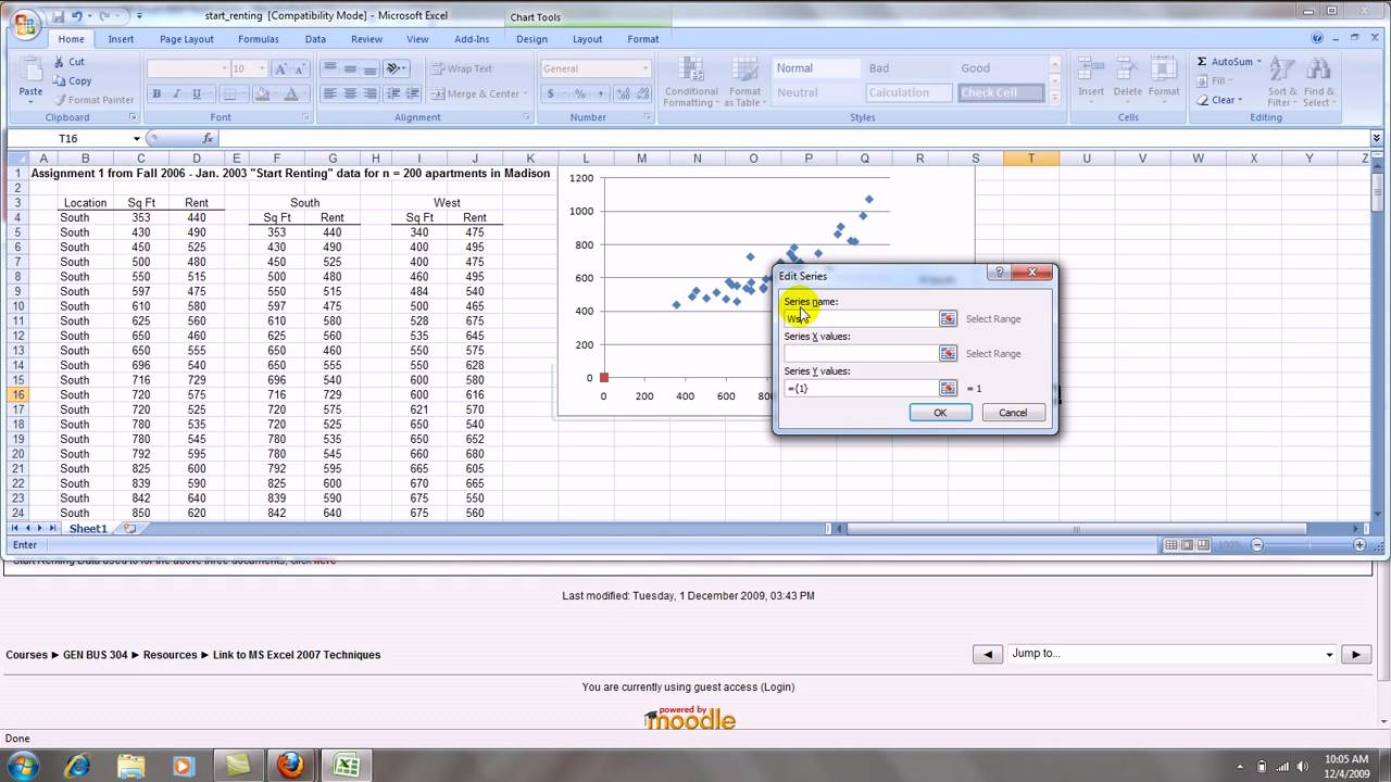 how to make an excel 2007 scatterplot with groups