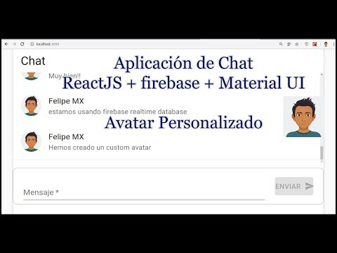 Aplicación De Chat Con ReactJS (custom Avatar) - Parte 8