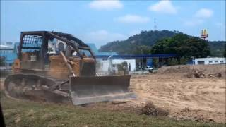 Trucks in action! Bulldozer, Grab truck and Dump truck