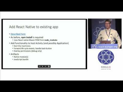 How to create a React Native reusable component for existing Android apps without knowing...