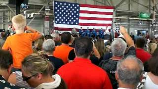 Crowd view I filmed during the STS-135 crew return ceremony  @ Ellington Field July 22, 2011