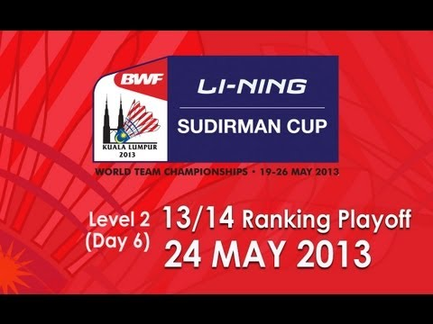 13th/14th Ranking Playoff - MD - R.Blair/P.Van Rietvelde vs K.Ridder/R.Bosch - 2013 Sudirman Cup