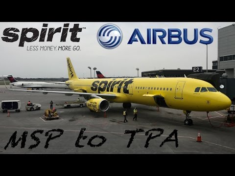 (Full Flight Review) Spirit Airlines Airbus A321-231: MSP to TPA