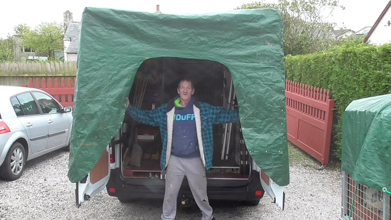 Work Van Back Door Canopy Youtube