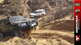 Fortuner Ironman & Stock, Storme 400, Thar MLD, XUV AWD, Duster AWD: Challenging Sandy climb.