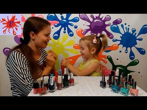 Красим ногти разными цветами Смешное видео для детей