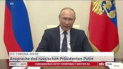 Live: Russlands Präsident Putin über die Corona-Lage