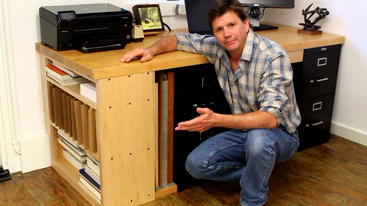 How To Make A Desk For An Office / Art Studio Part 1 By Jon Peters   YouTube