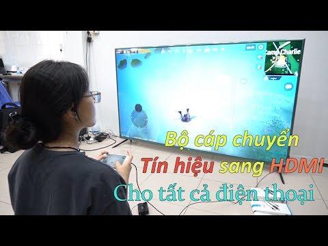 Bộ Cáp Chuyển Tín Hiệu Sang HDMI Cho Tất Cả điện Thoại Android, IPhone