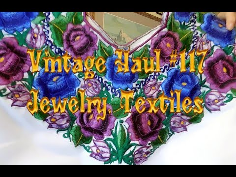 Diggin' with Dirty Girl S7E3 Vintage Haul #117: Jewelry & Textiles to Resell on Etsy