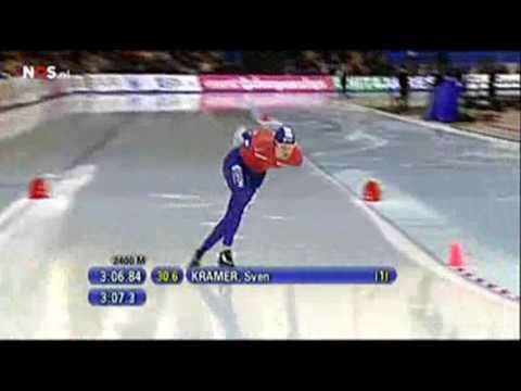 Wk Afstanden 2009 10000m Mannen Sven Kramer 1 2 Youtube