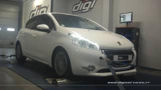 Peugeot 208 1.6 hdi 92cv Reprogrammation Moteur @ 123cv Digiservices Paris 77 Dyno