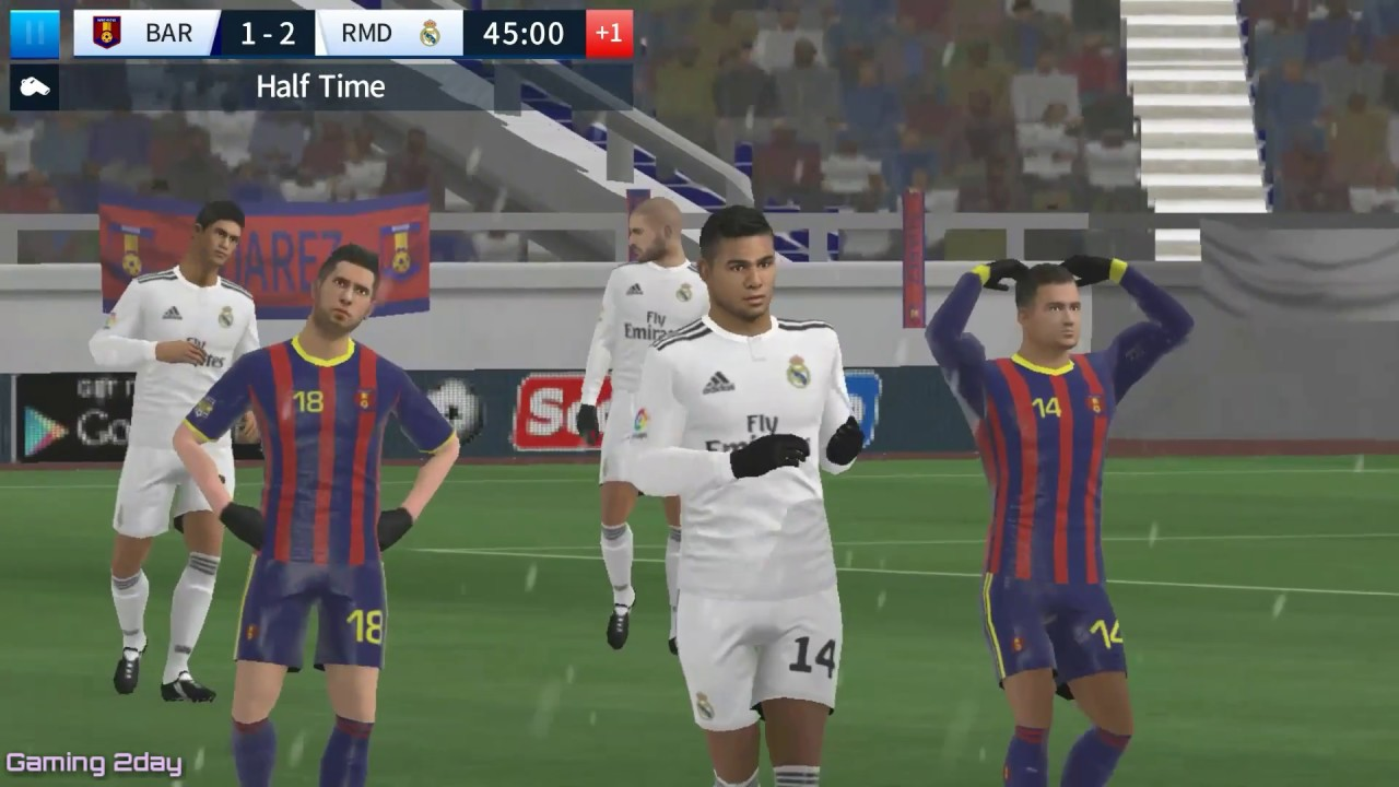 Barcelona vs Real madrid - Dream league soccer 2018 - Android/IOS gameplay  #88