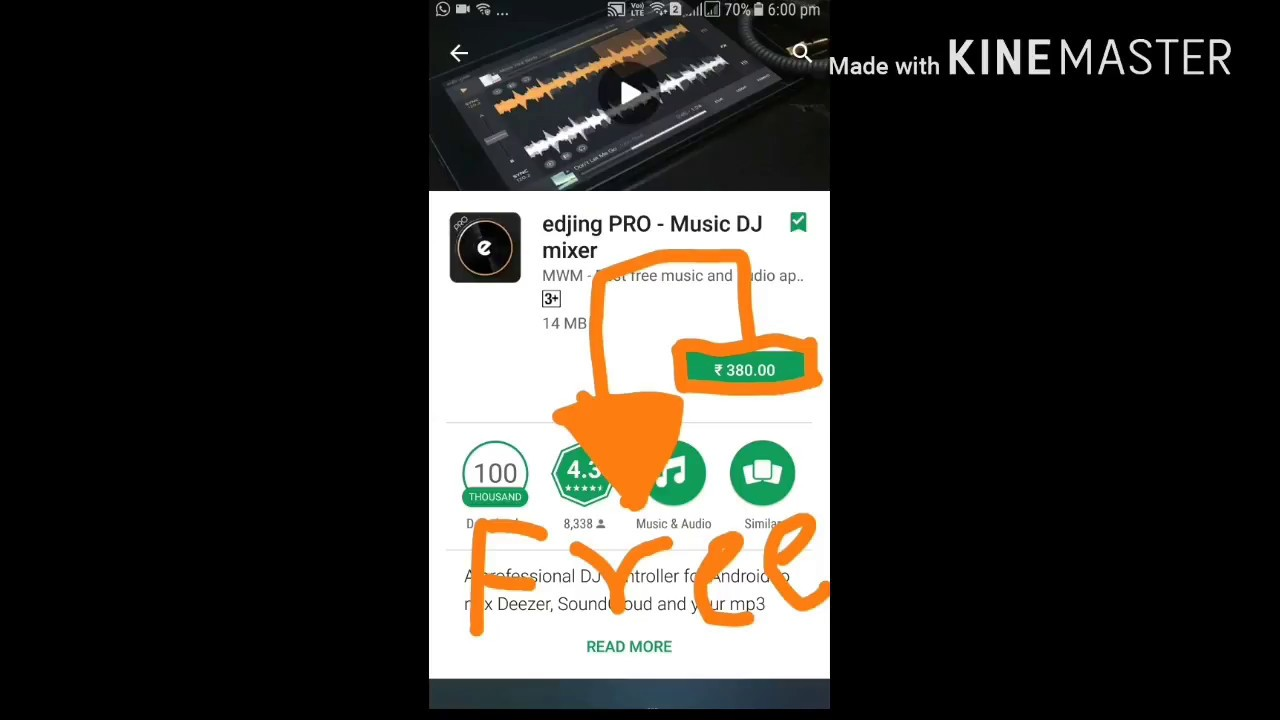 1 click download (EDJING PRO Only Android)By Sarthak