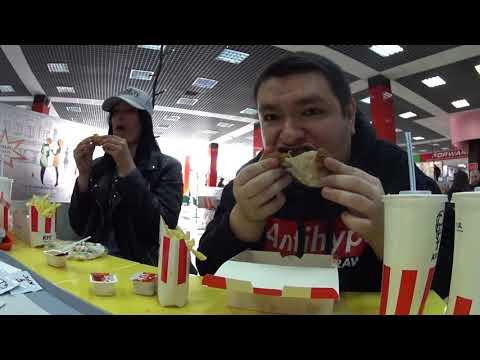 Обед в Красноярске в KFC с Оляй в 12:08 дня