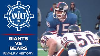 The BEST Moments from the Giants Bears Rivalry History