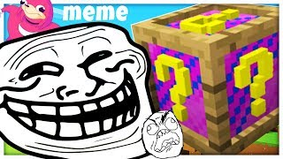 BRAND NEW MEME LUCKY BLOCK CHALLENGE - MODDED MINECRAFT LUCKY BLOCK