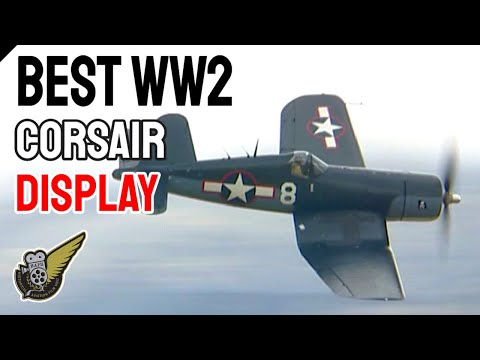 WW2 Corsair fighter - low level and fast