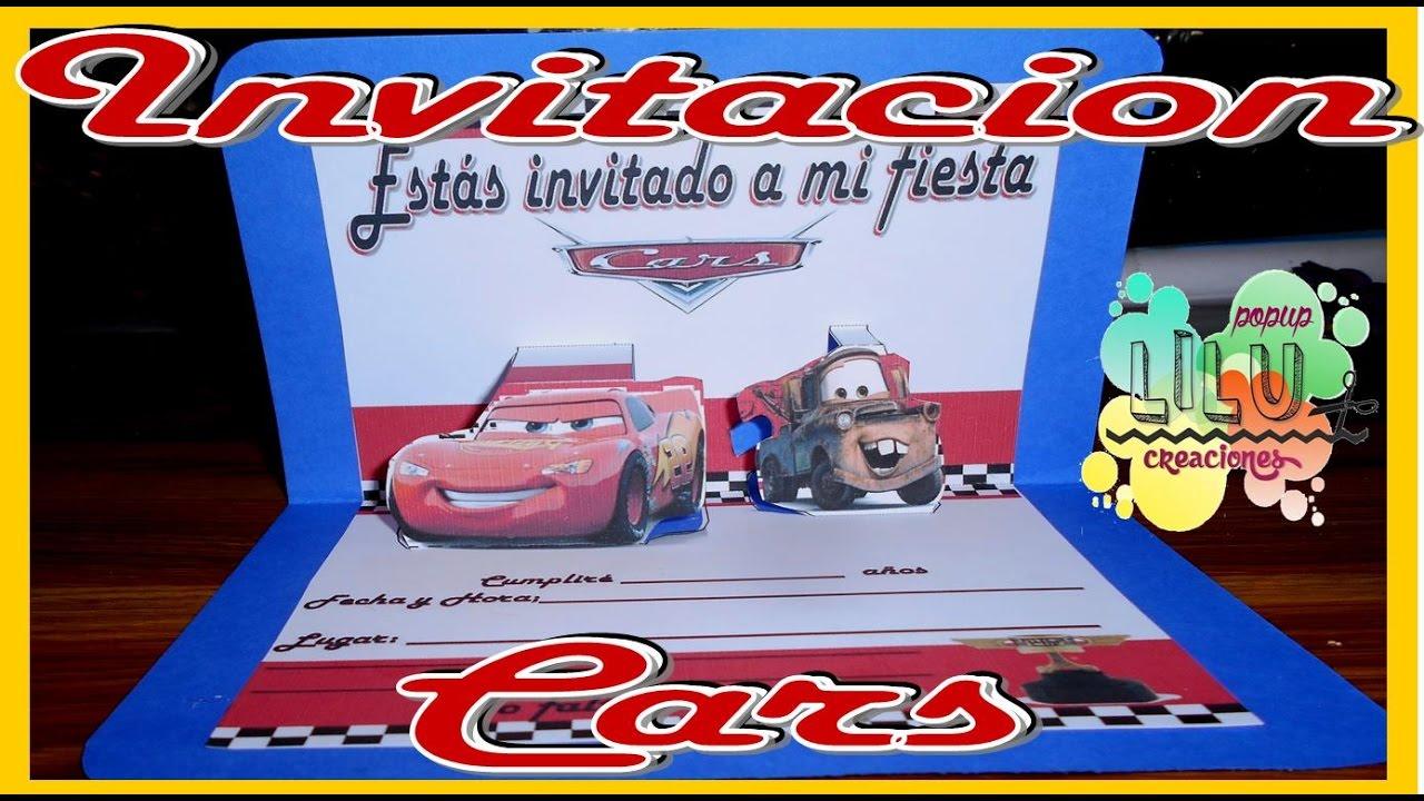 Como Hacer Una Invitación Dede Cars Invitation Cars
