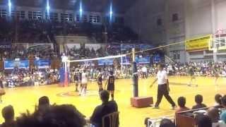 141028 unigames volleyball finals w dlsu nu set 3 7